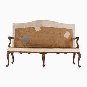 18th-Century Italian Walnut Sofa