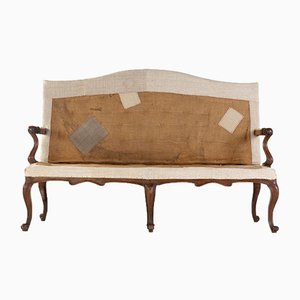 Italienisches Sofa aus Nussholz, 18. Jh