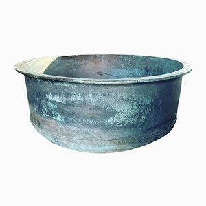 Large Riveted Copper Cheese Vat