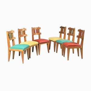 Cherry Dining Chairs, 1950s, Set of 6