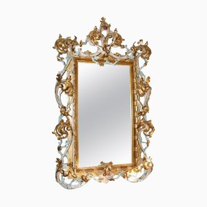 Large Antique Italian Giltwood Mirror