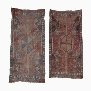Vintage Turkish Jajim Kilim Runner Rugs, Set of 2