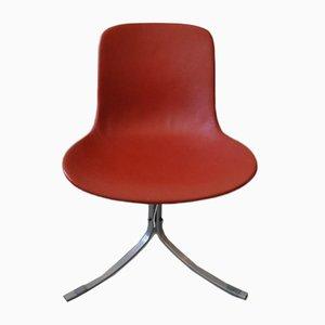 Roter PK9 Stuhl von Poul Kjærholm für Fritz Hansen, 2000er