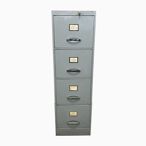 Grey Industrial Iron Filing Cabinet, 1960s