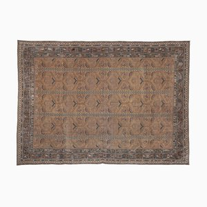 Vintage Turkish Oushak Rug with Floral Border