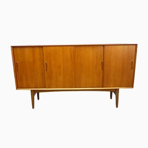 Swedish Teak Highboard, 1960s