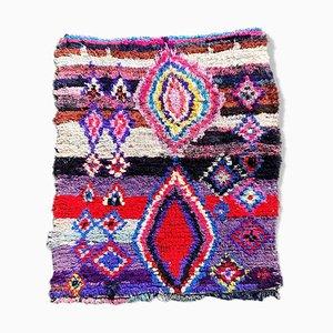 Vintage Berber Boucherouite Teppich