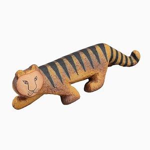 Skandinavischer Steingut Tiger in Afrika von Lisa Larson für Ke Ramikstudion, 1980