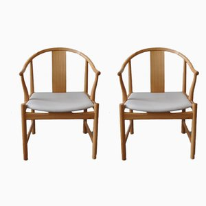 China PP56 Armchairs by Hans J. Wegner for PP Møbler, Set of 2