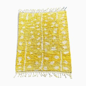 Beni Ouarain Yellow Berber Carpet