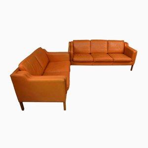 Dänische Vintage Sitzgruppe im Stil von Børge Mogensen von Stouby, 2er Set