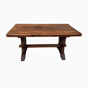 Tavolino da caffè vintage in quercia con base
