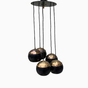 Italienische Deckenlampe im Stil von Stilnovo, 1950er