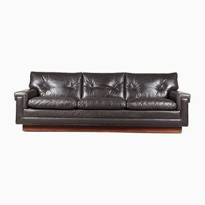 Rosewood & Leather Sofa from Bovenkamp, 1960s