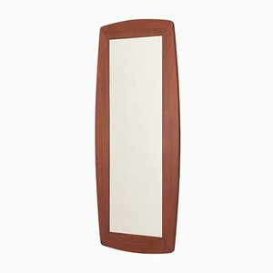 Danish Mirror with Wide Curved Teak Frame, 1960s