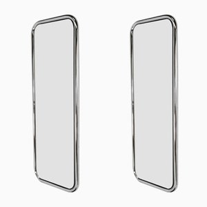 Tubular Chrome-Plated Steel Mirrors, 1970s, Set of 2
