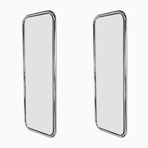 Verchromte Stahlrohr Spiegel, 1970er, 2er Set