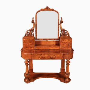Victorian Figured Walnut Dressing Table
