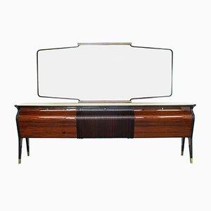 Enfilade Vintage avec Miroir par Osvaldo Borsani pour Turri, 1940s