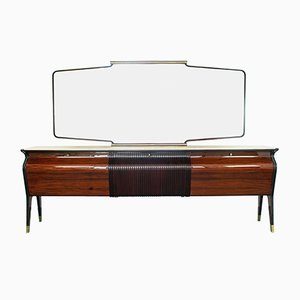 Vintage Sideboard with Mirror by Osvaldo Borsani for Turri, 1940s