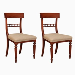 William IV Mahogany Chairs, Set of 2