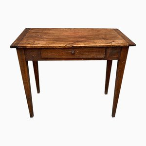 Vintage Hardwood Console Table with Drawer