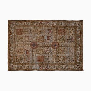 Distressed Small Turkish Oushak Rug