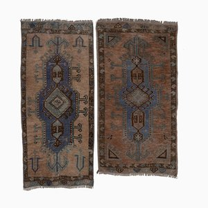 Vintage Turkish Oushak Yastik Scatter Rugs, 1970s, Set of 2