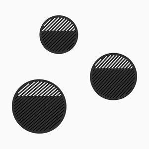 Set de Panier Mural Diagonal Noir par Andreason & Leibel pour Swedish Ninja