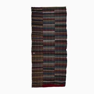 Gestreifter Türkischer Vintage Kilim Teppich
