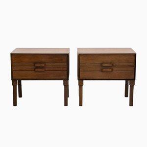 Teak Side Tables or Nightstands, 1950s, Set of 2