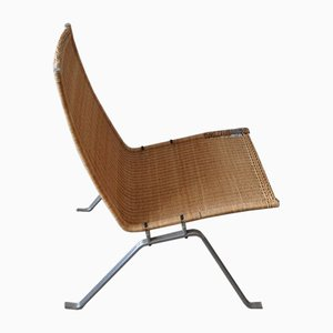PK22 Rattan Lounge Chair by Poul Kjærholm for E Kold Christensen, 1960s