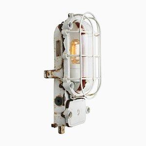 Vintage Industrie Wandlampe aus Gusseisen von Schuch