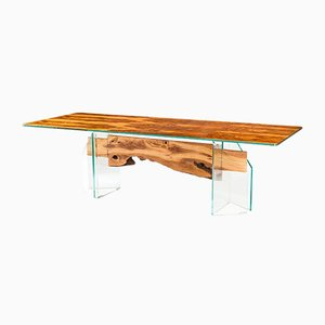 Italian Table Portofino in Glass and Olive-Tree Wood from Vgnewtrend