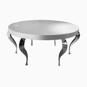 Italian Table Zefiro in Wood and Steel from Vgnewtrend