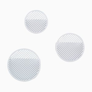 Diagonal Wall Basket Set in White by Andreason & Leibel for Swedish Ninja