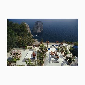Il Canile Oversize C Print Framed in White by Slim Aarons