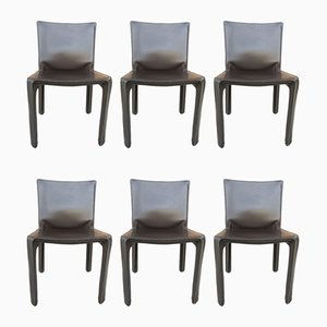 Model Cab 412 Dining Chairs by Mario Bellini for Cassina, 1970s, Set of 6
