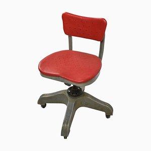 Sedia girevole con rotelle di Gio Ponti per Uffici Montecatini, 1938