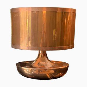 Italian Copper Table Lamp, 1970s