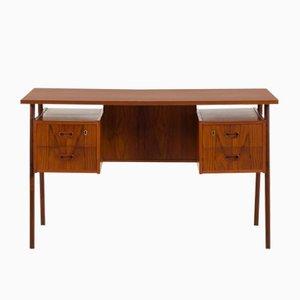 Mid-Century Danish Teak Double-Sided Desk, 1960s