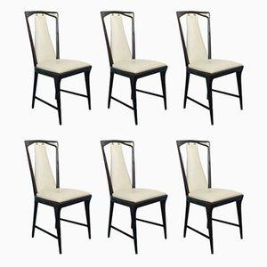 Vintage Esstisch & Stühle von Osvaldo Borsani für Turri, 1940er, 9er Set