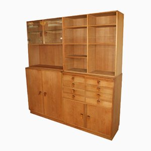 Wall Unit with 5 Parts by Kurt Østervig for KP Møbler, 1970s