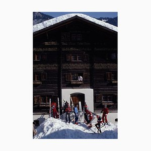 Klosters Florin House Oversize C Print Framed in Black by Slim Aarons