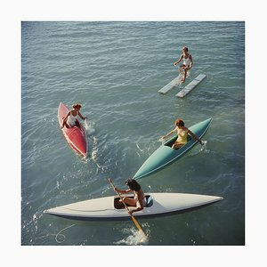 Lake Tahoe Trip Oversize C Print Framed in White by Slim Aarons