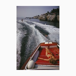 Leisure in Antibes Oversize C Print Framed in White by Slim Aarons