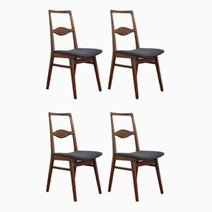 Mid-Century Teak Dining Chairs by Karl Nothhelfer, 1950s, Set of 4