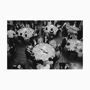 Luxury Dining Silver Fibre Gelatin Print Framed in Black by Slim Aarons