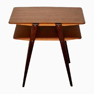 Scandinavian Teak and Mahogany Nightstand/Side Table, 1960s