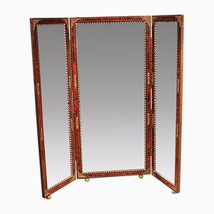 Napoleon III Tortoiseshell, Ivory and Ebony Triptych Mirror
